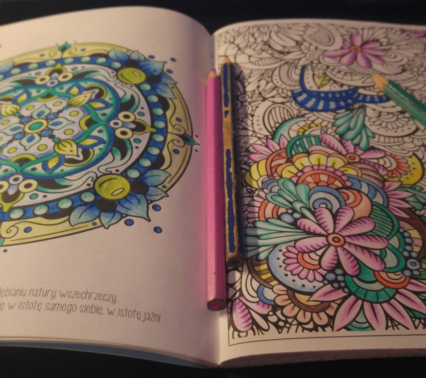 A colouring book for adults in progress