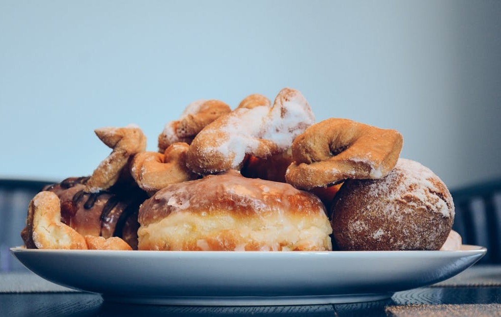 Polish doughnuts on a plate - Fat Thursday