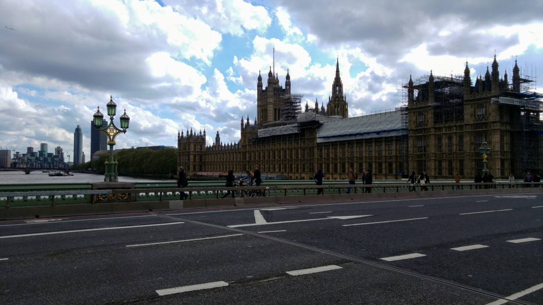 A view at the Houses of Parliament in London