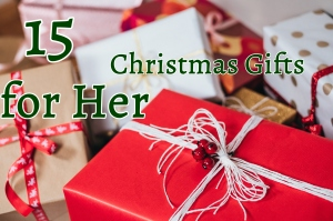 15 Christmas Gifts for Her - wrapped presents