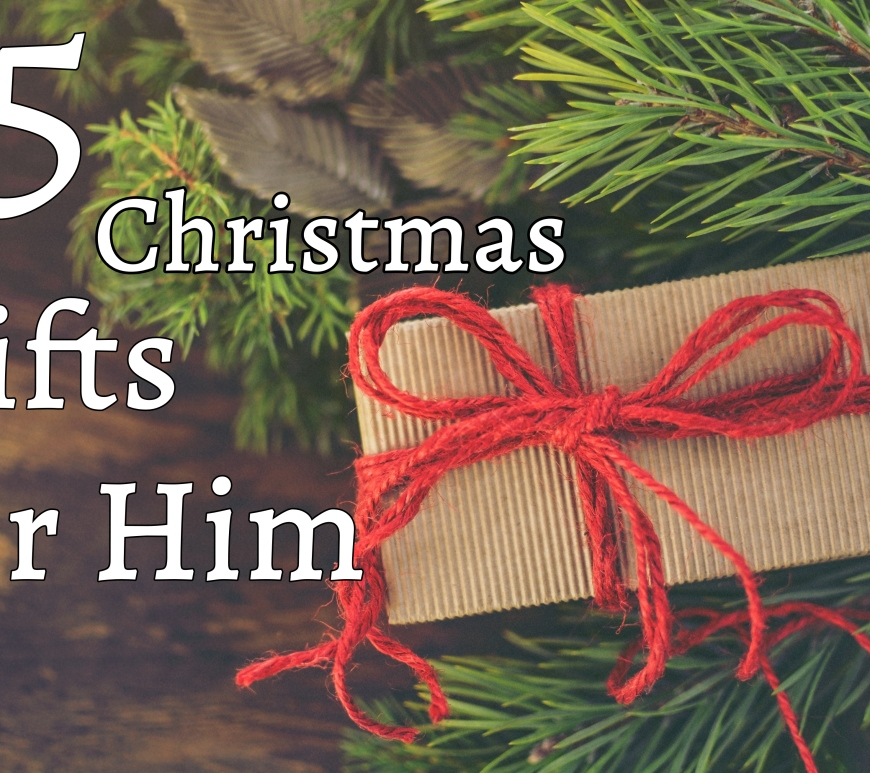 15 Christmas Gifts For Him - wrapped present