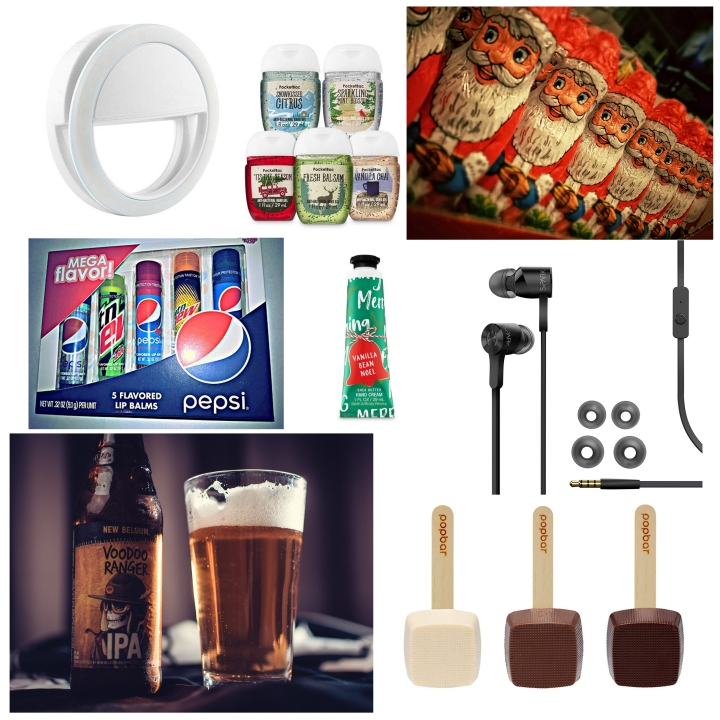 A collage of stocking filler ideas - part 1