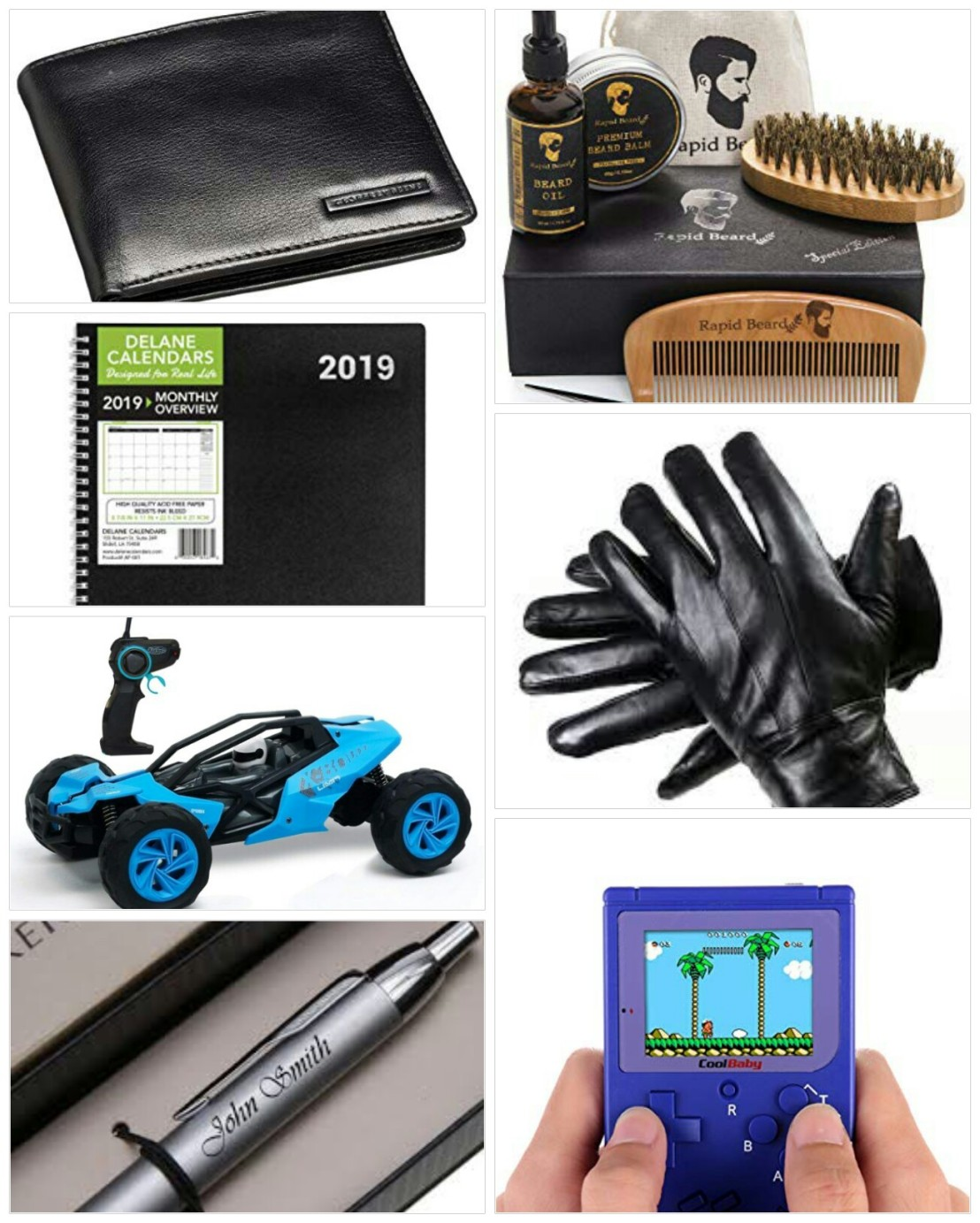 A collage of Christmas gift ideas for him - part 1