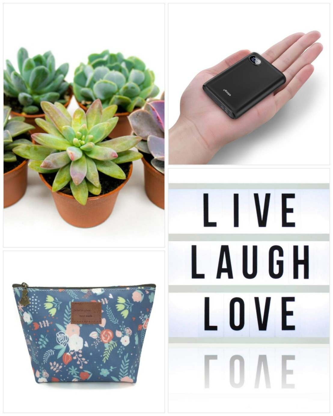 A collage of Christmas gift ideas for her - part 1