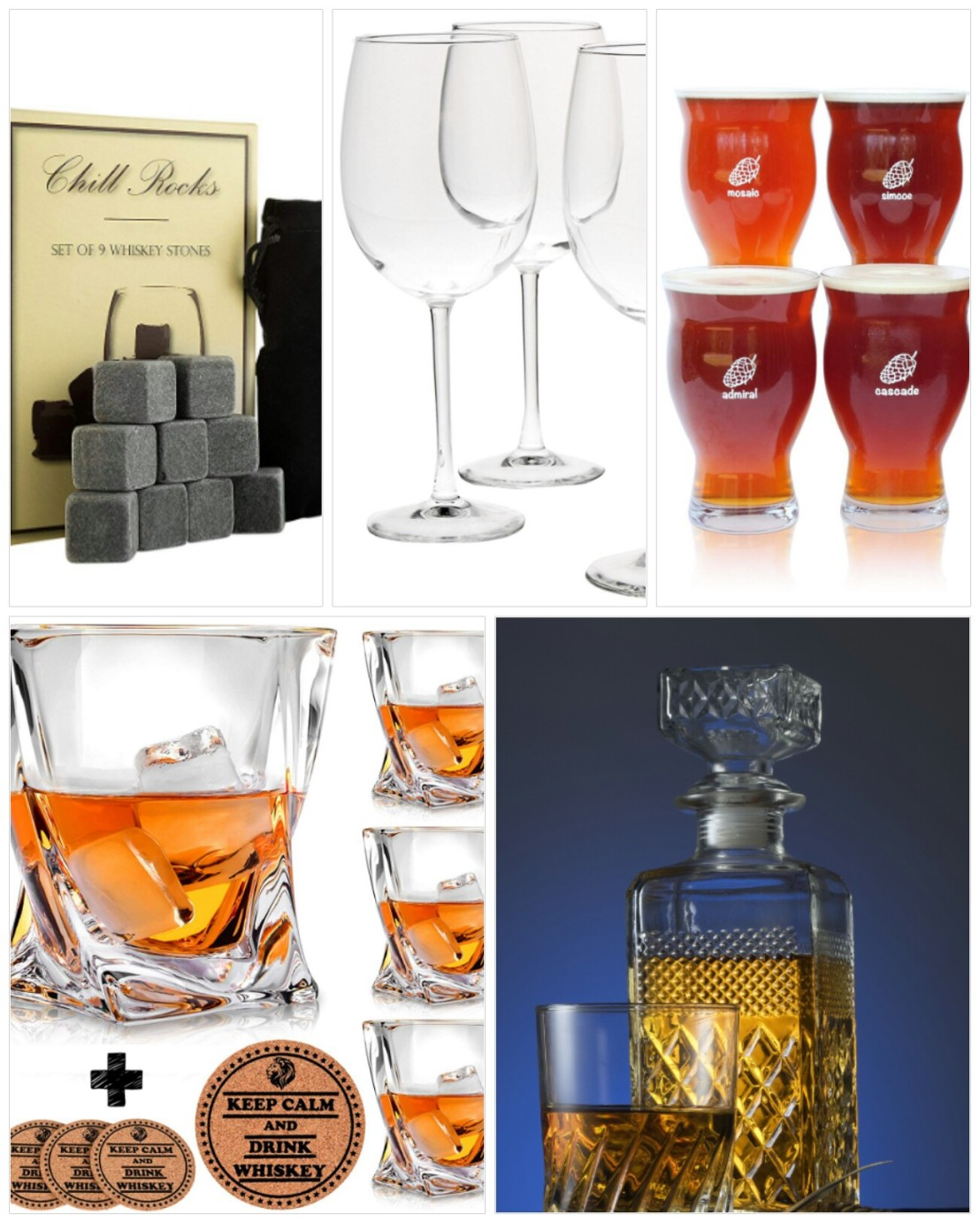 A collage of Christmas gift ideas for parents - part 3