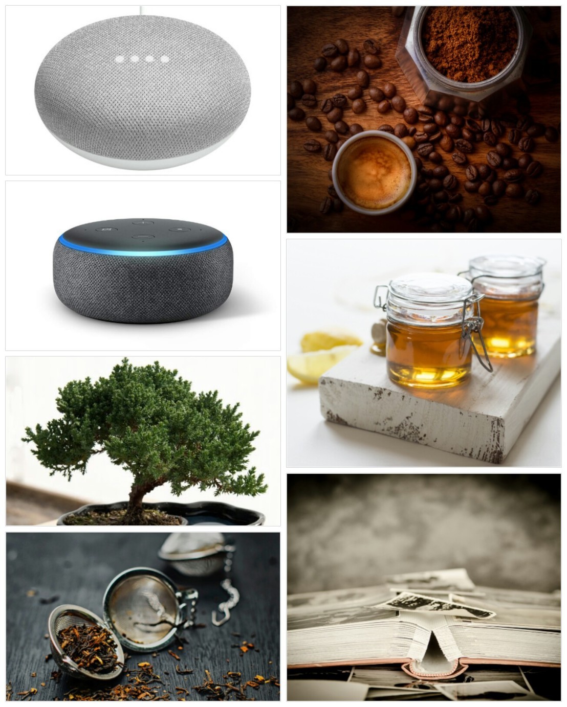 A collage of Christmas gift ideas for parents - part 1