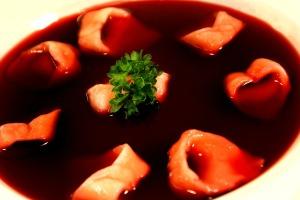 Polish Christmas beetroot soup