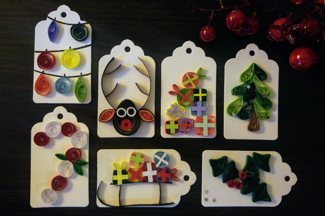 7 DIY Christmas Gift Tag Ideas –Quilling