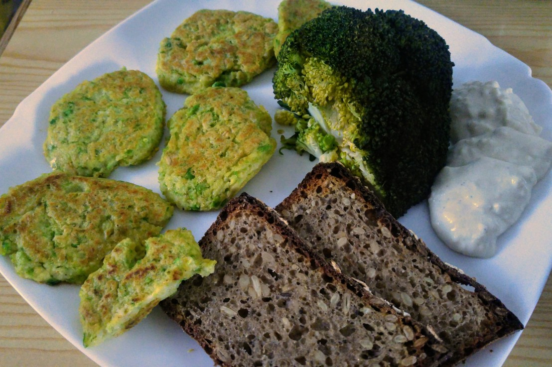 Green Peas, Chickpeas And Millet GroatsPatties