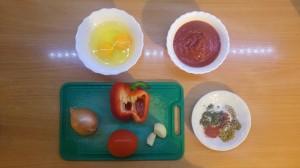 Shakshuka - ingredients on the table