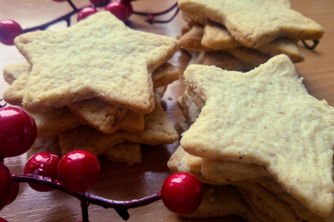 Simple Cut Out Ground WalnutCookies