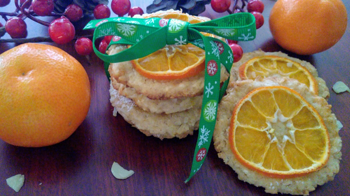 Tangerine Cookies with Coconut - New Taste of Christmas