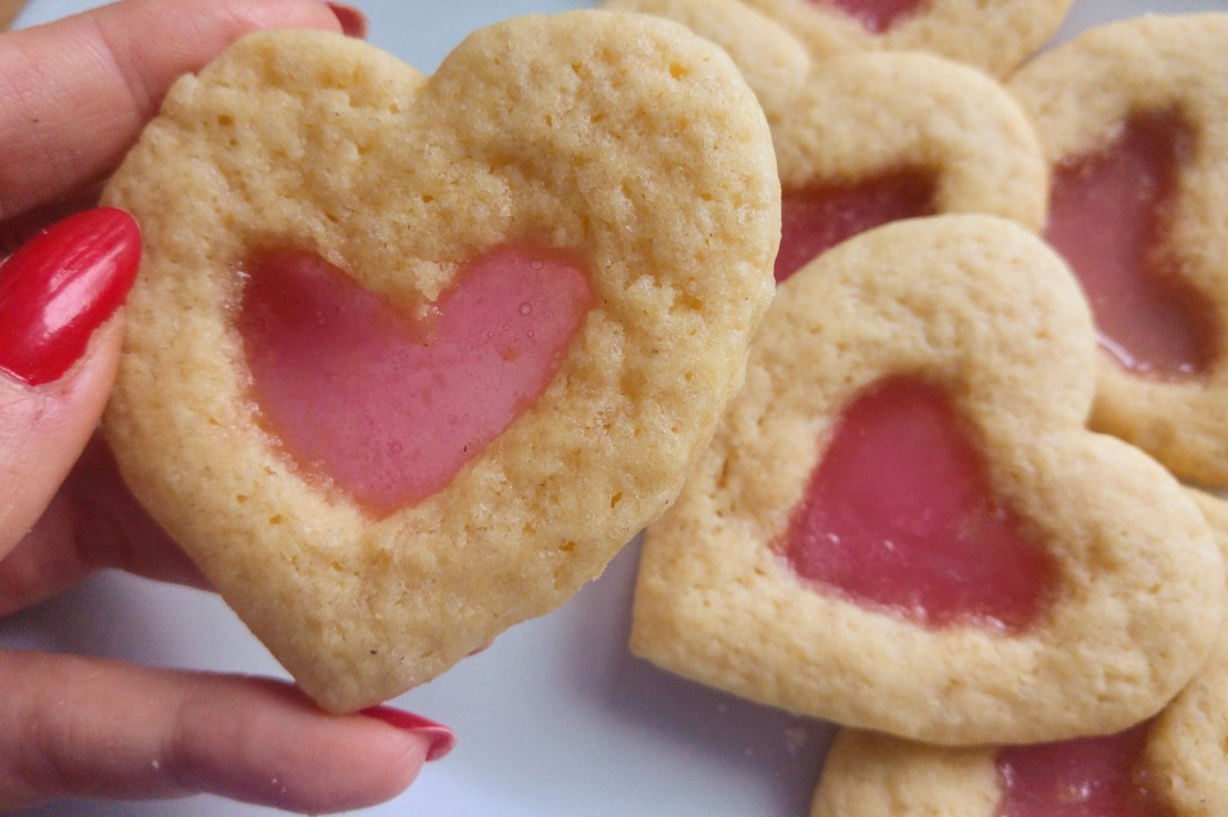 Valentine Heart Stained Glass SugarCookies