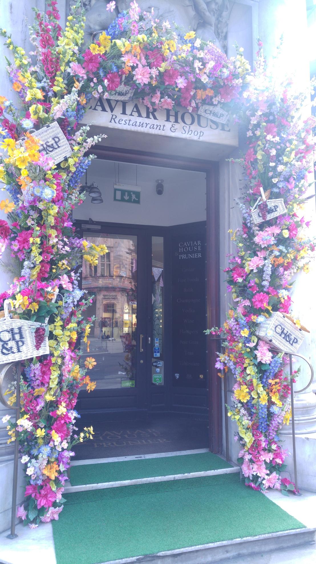 London trip - door with flowers