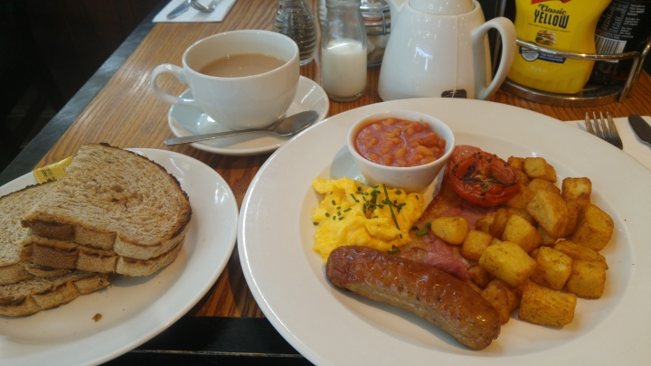 London trip - full English Breakfast - Stansted
