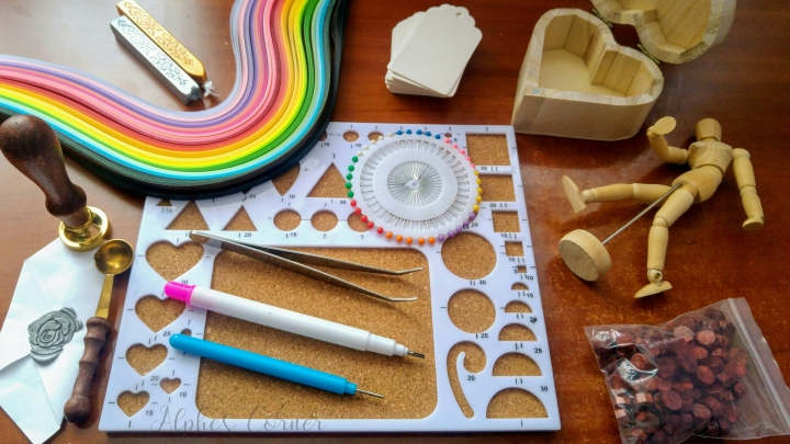 Aliexpress craft supplies - quilling, model, box, gift tags