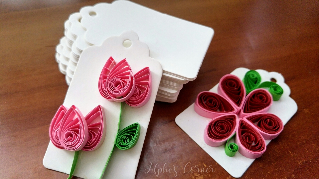 Aliexpress craft supplies - quilling gift tags