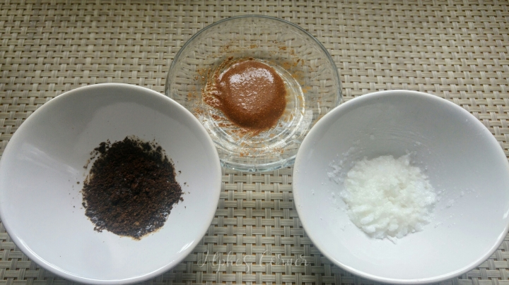 DIY lip scrubs - coconut, coffee and cinnamon