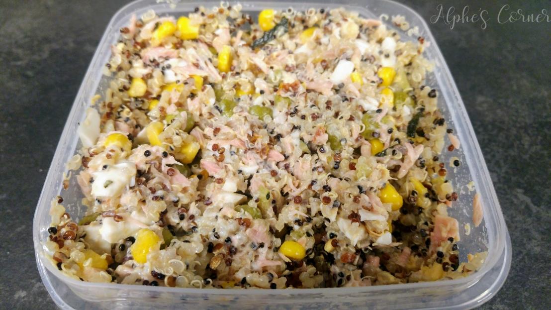 Healthy lunchbox - quinoa and tuna salad