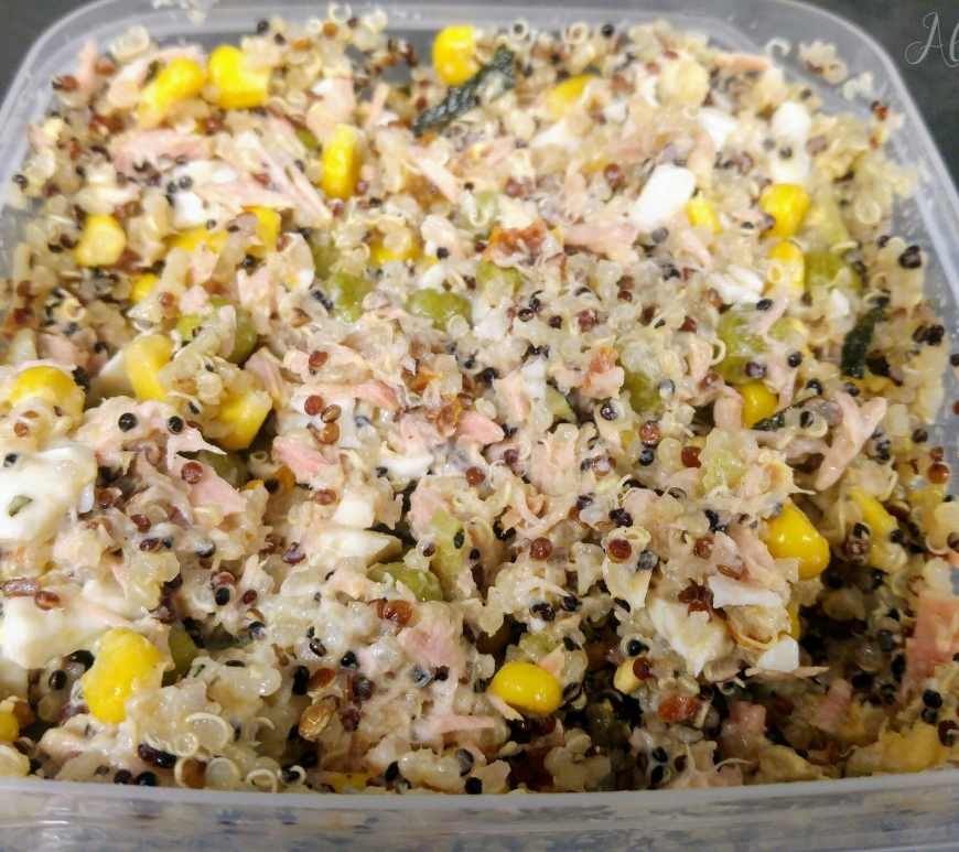 Healthy lunchbox - quinoa and tuna salad