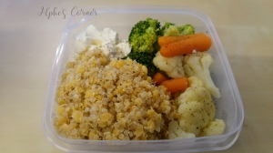 Healthy lunchbox - quinoa and vegetables