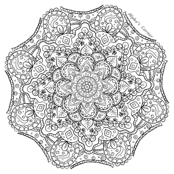 Mandala colouring page 1