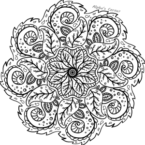 Mandala colouring page 2