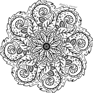 Mandala colouring page 2