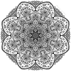 Mandala colouring page 3