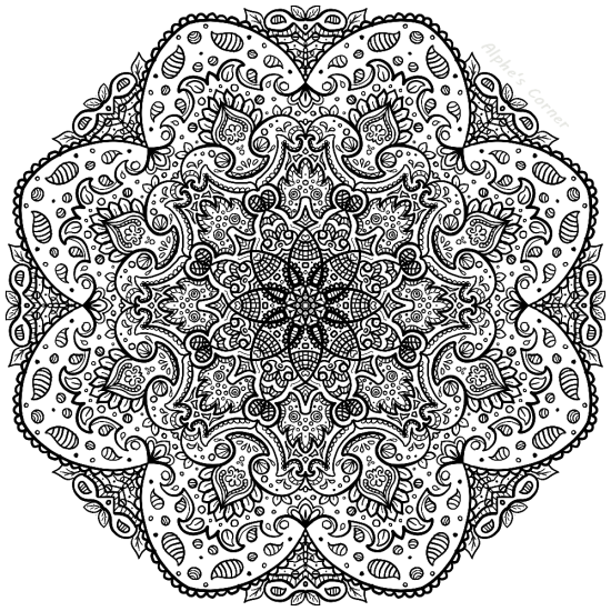 Mandala colouring page 3