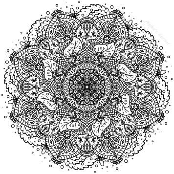 Mandala colouring page 4