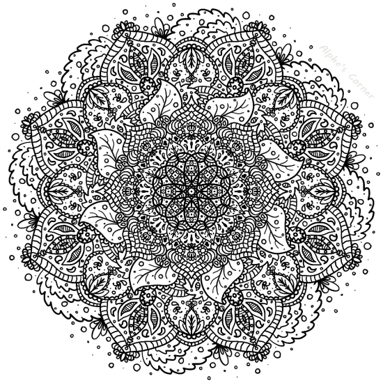 Mandala colouring page 4