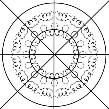 Mandala drawing step 2