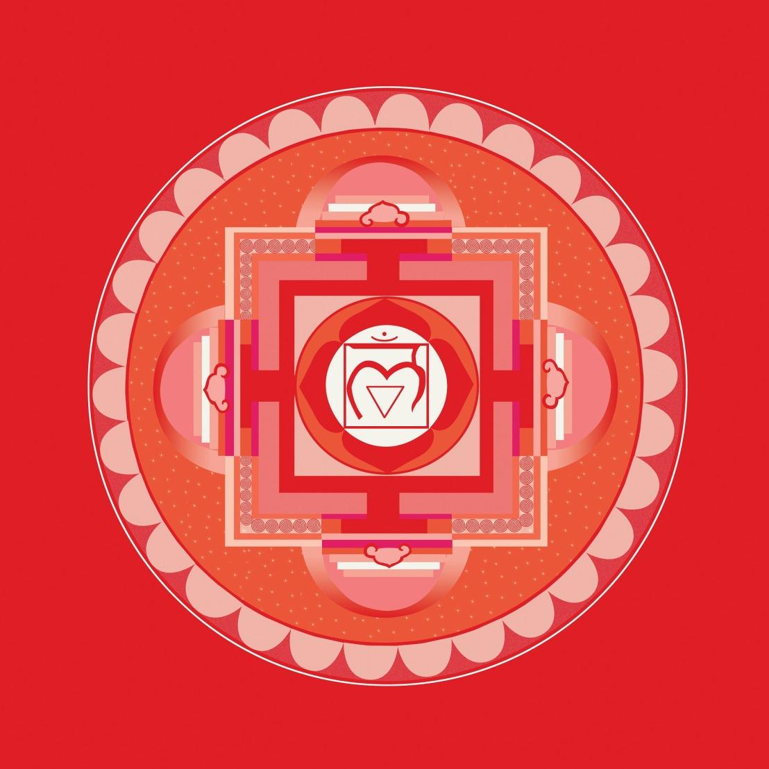 A traditional red mandala