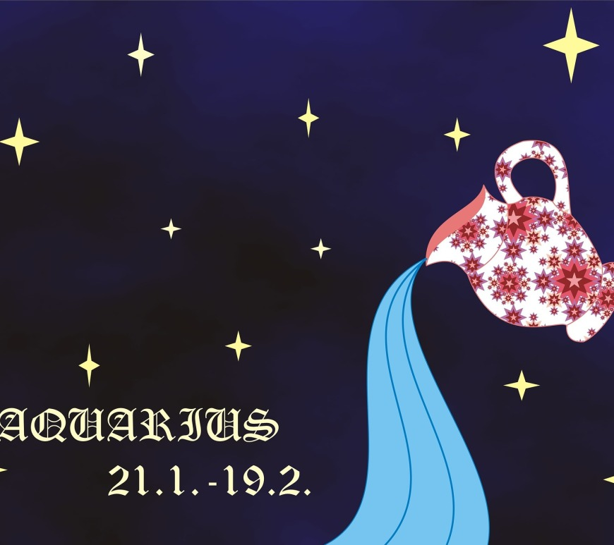 Aquarius star sign logo