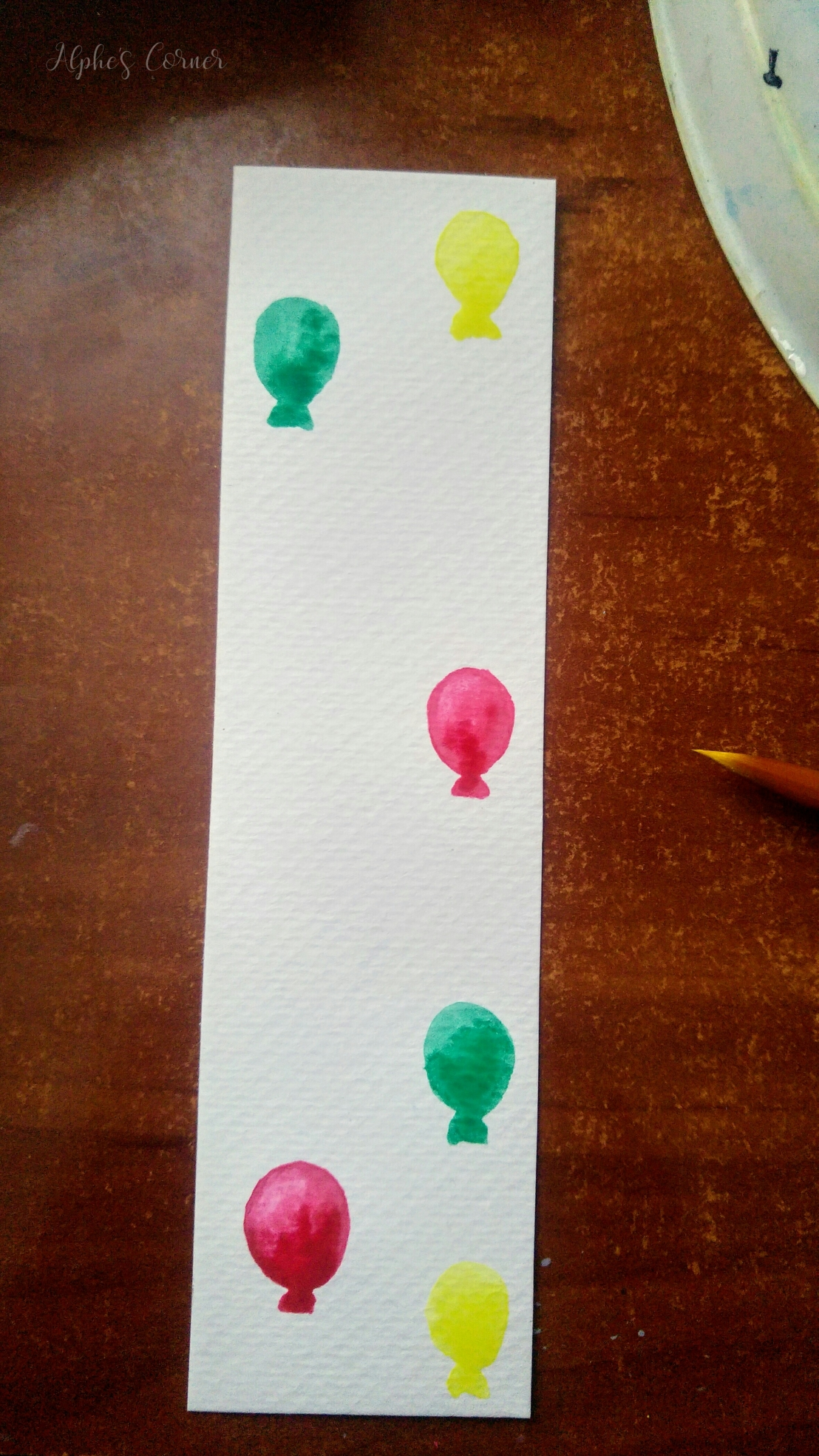 Painting the first balloons