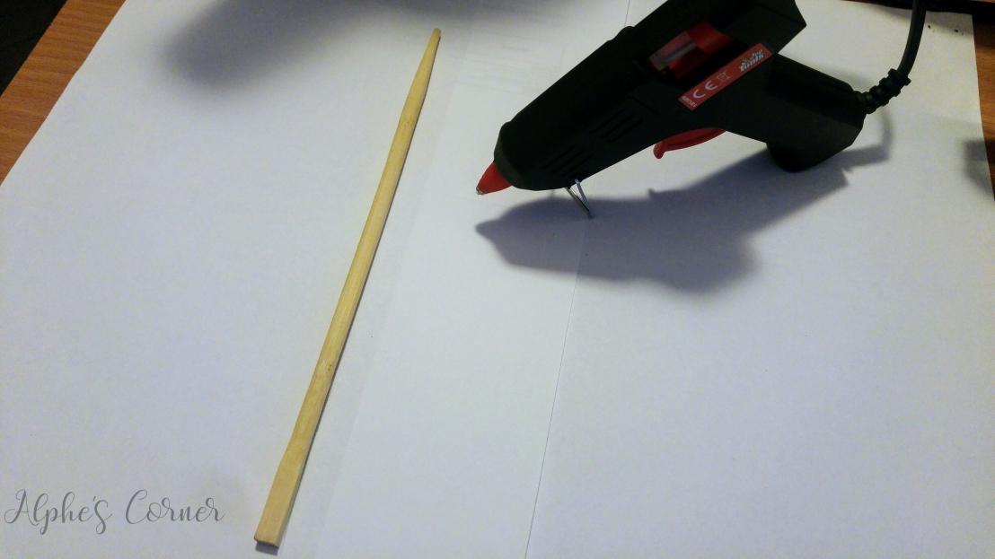 DIY Harry Potter wand - a stick and a hot glue gun