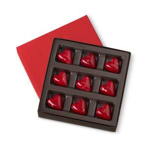 Valentine gift ideas - heart shaped chocolates