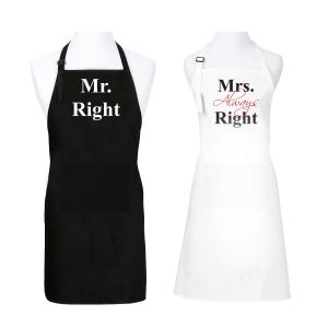 Valentine gift ideas - mr and mrs aprons