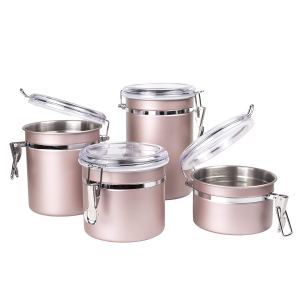 Rose gold kitchen accessories - containers
