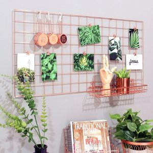 Rose gold kitchen accessories - grid panel