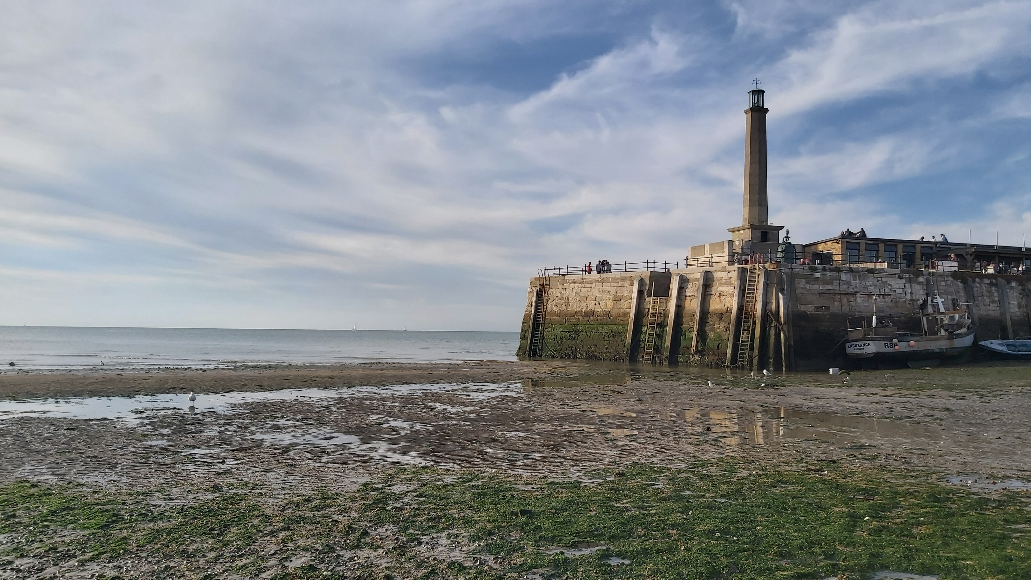 The lighthouse in Margate with low tide