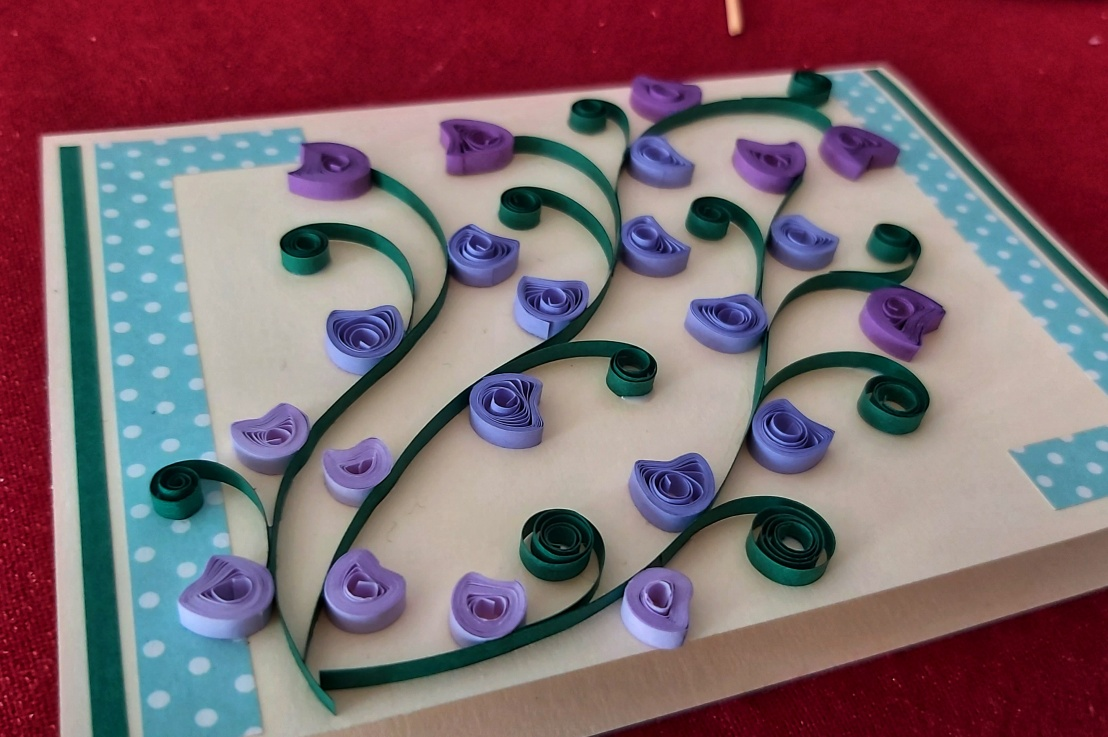 Quilling Floral BirthdayCard