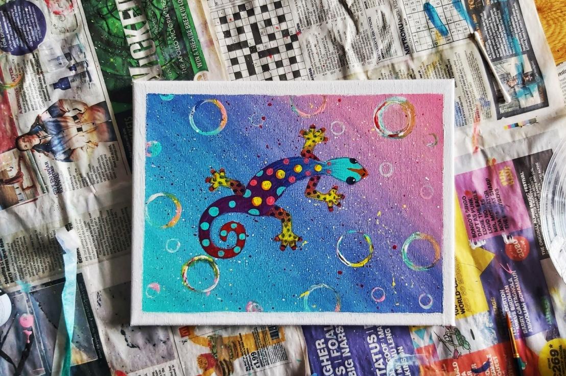 Acrylic Painting –Gecko