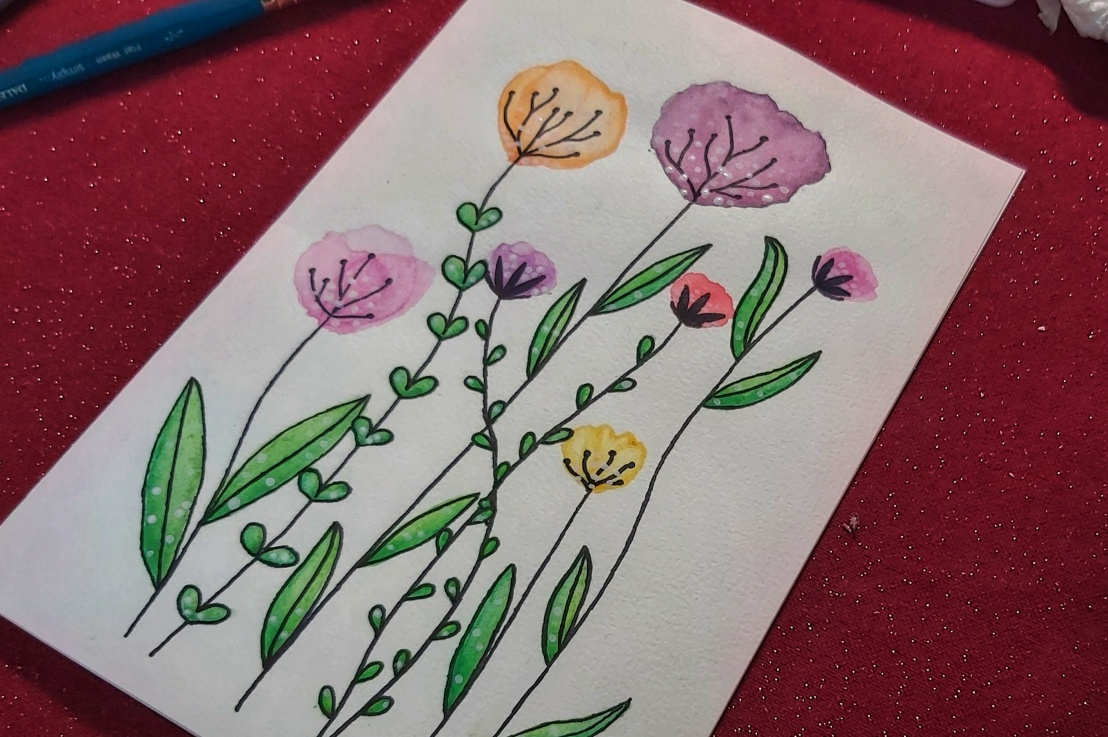 Floral Watercolour Mother's DayCard