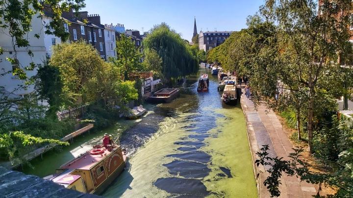 A canal near Regent's Park in London