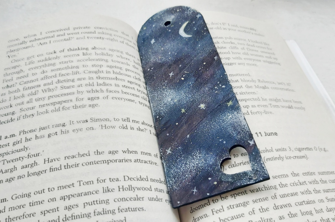 Painted Midnight WoodenBookmark