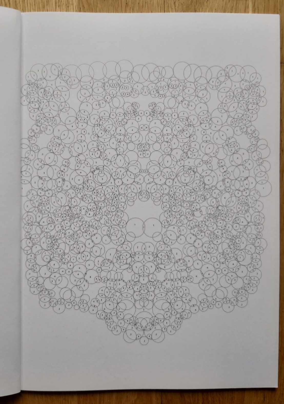 Blank circles colouring numbers page