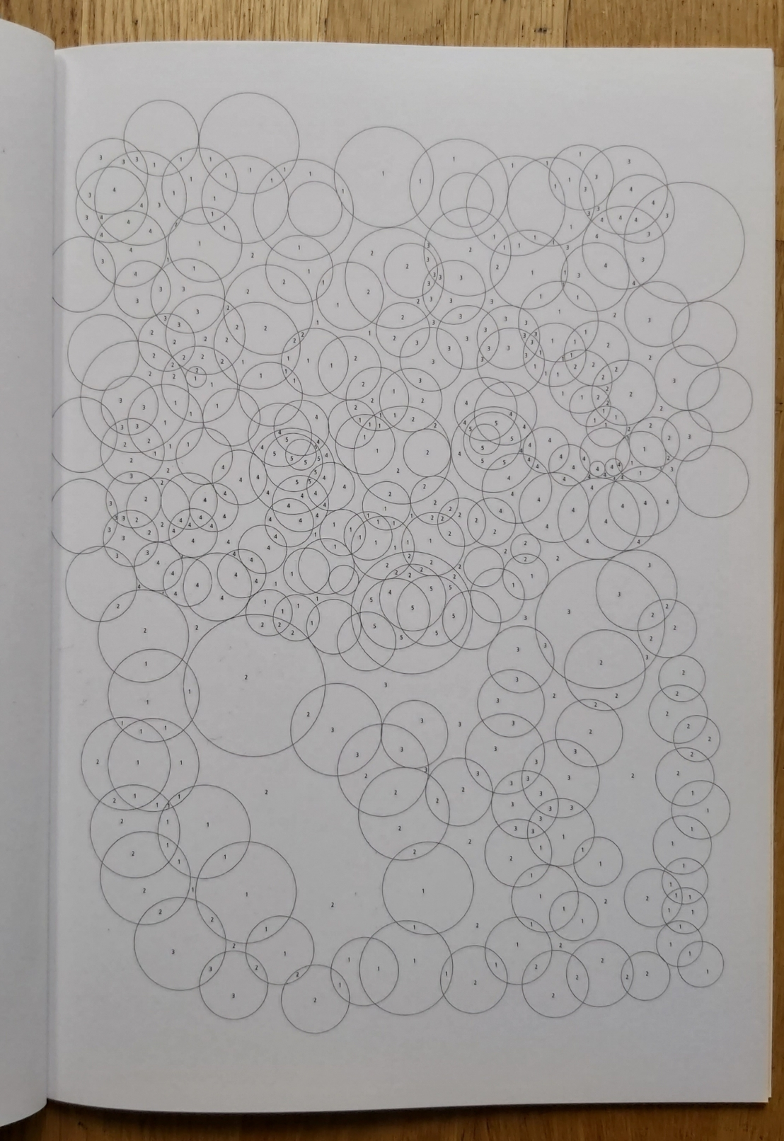 A blank circle numbers colouring page