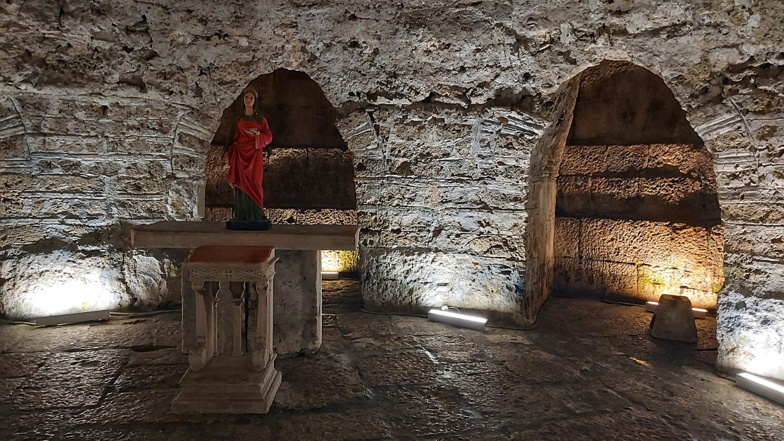 The crypt of Diocletian's Palace in Split, Croatia